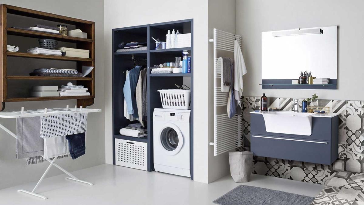 Mobile Bagno E Lavatrice sai nascondere lavatrice e asciugatrice nella tua lavanderia
