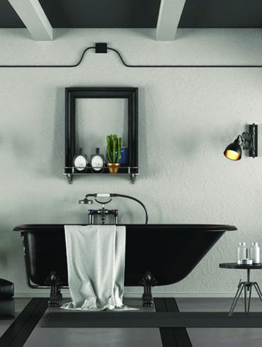 come arredare il bagno con il nero